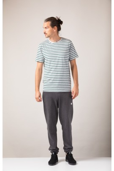 Herren-T-Shirt ZRCL Ringel Green/Silver