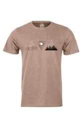 Herren-T-Shirt ZRCL Triple Brown Melange