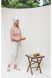 Hose Beaumont Organic Kayley Trousers Cream