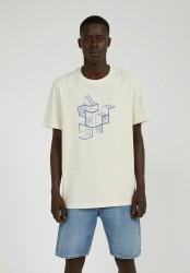 T-Shirt Armedangels Aado Labyrinth Undyed