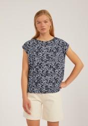 Tencel-T-Shirt Armedangels Jennaa Flower Sprinkle Night Sky