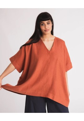 Bluse Beaumont Organic Leonor Top Clay