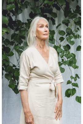 Rachael Linen Dress In Cream