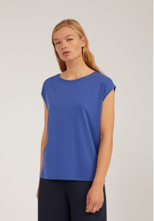 Tencel-T-Shirt Armedangels Jilaa Deep Ultramarine