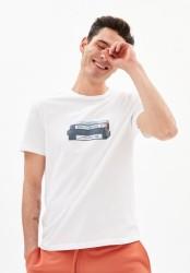 T-Shirt Armedangels Jaames VHS White
