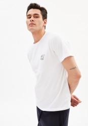 T-Shirt Armedangels Jaames Struggle White