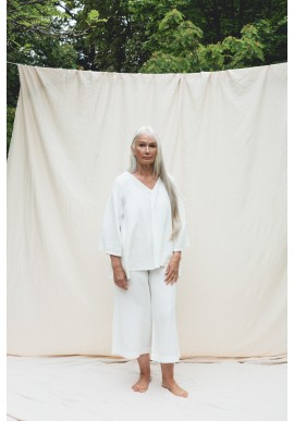 Hose Beaumont Organic Evora Trousers Off White