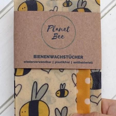 Bienenwachstuch 3er-Set Planet Bee (S/M/L) Bee