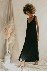 Kleid Cossac Summer Flow Maxi Dress Black