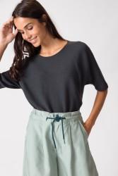 Kurzarmpullover SKFK Maindi Sweater Dark Grey