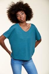T-Shirt Les Racines du Ciel Linen Wide Green