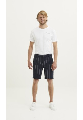 Chino-Shorts Knowledge Cotton Apparel Chuck Pin Striped Shorts Total Eclipse