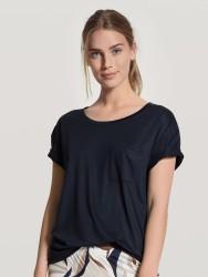 T-Shirt Calida 100% Nature Shirt Short Sleeve Dark Lapis Blue