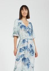 Maxi-Kleid Armedangels Tyraa Watercolors Foggy Blue