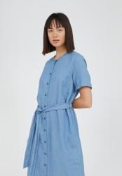Midi-Kleid Armedangels Maare Foggy Blue