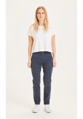 Damen-Chinos Knowledge Cotton Apparel Willow Total Eclipse