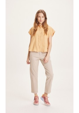 Damen-Chinos Knowledge Cotton Apparel Willow Light Feather Gray