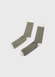 Socken Klitmøller Collective Sailor Cotton Sock Cream/Pale Green
