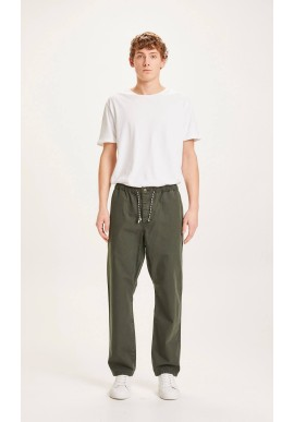 Hose Knowledge Cotton Apparel Fig Loose Rib-Stop Pant Forrest Night