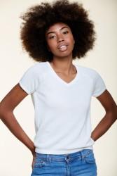Kurzarmpullover Les Racines du Ciel Bubble Short Sleeves Sweater White