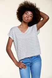 Kurzarmpullover Les Racines du Ciel Sleeveless Sweater White / Light Grey