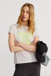 Damen-T-Shirt Ecoalf Onda Light Grey