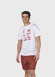T-Shirt Klitmøller Collective Lars Tee White Clay Red