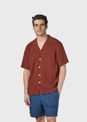 Kurzarm-Hemd Klitmøller Collective Mads Shirt Clay Red