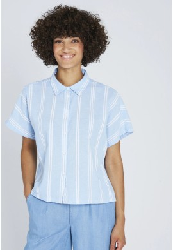 Blouse Recolution Stripes Dusk Blue-White