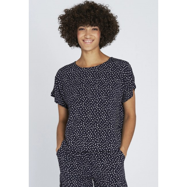 Blouse Recolution Dots Navy