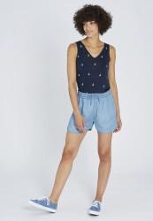 Tencel-Shorts Recolution Light Denim Blue
