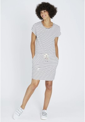 Jerseykleid Recolution Stripes Navy-Off White