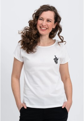 T-Shirt Recolution Casual Crossedfingers White