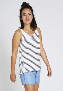 Top Recolution Stripes Casual Navy-White