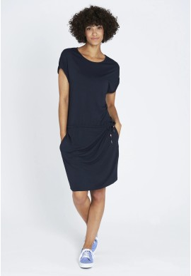 Midi-Kleid Recolution EcoVero Shirtdress Dark Navy