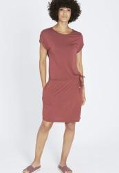 Midi-Kleid Recolution EcoVero Shirtdress Dark Rose