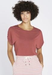 T-Shirt Recolution EcoVero Turn Up Dark Rose