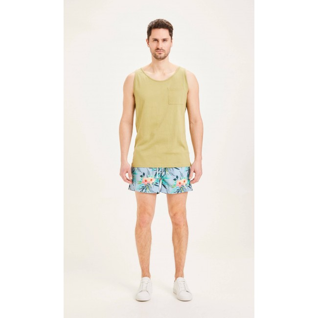 Badehosen Knowledge Cotton Apparel Bay Swimshorts AOP Asley Blue