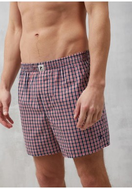 Boxershorts Recolution Checked Navy-Red-White