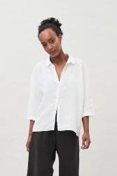 Bluse Maska Yakora Linen Shirt White
