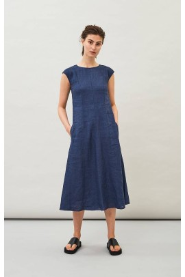 Midi-Kleid Maska Hopi Linen Dress Indigo