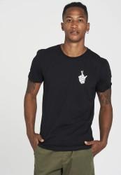 T-Shirt Recolution Casual Crossedfingers Black