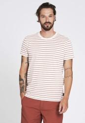 T-Shirt Recolution Casual Stripes Light Creme