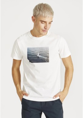T-Shirt Givn Berlin Colby Boat-Print White