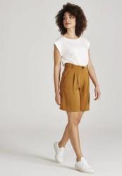 Tencel-Shorts Givn Berlin Petra Rubber Brown