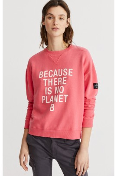 Damen-Sweatshirt Ecoalf Because Fucsia