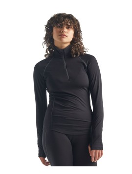 Damen-Half-Zip-Longsleeve Icebreaker 150 Zone Black