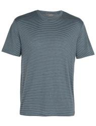 Herren-T-Shirt Icebreaker Dowlas SS Stripe Midnight