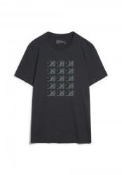 T-Shirt Armedangels Jaames Turntables Acid Black