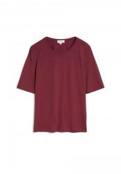 Tencel-T-Shirt Armedangels Jilaraa Ruby Red